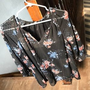 BKE embellished floral top